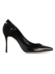 Sergio Rossi Buckled Trim Pointed Pumps Black