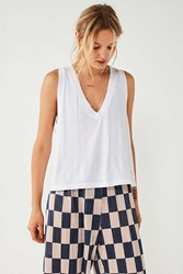Truly Madly Deeply Lana Deep V Tank Top White
