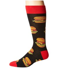 Socksmith Good Burger Black Men's Crew Cut Socks Shoes