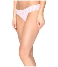 Hanky Panky Petite Signature Lace Low Rise Thong Blossom Women's Underwear Pink