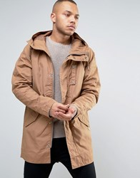 Esprit Parka With Military Details Camel Beige