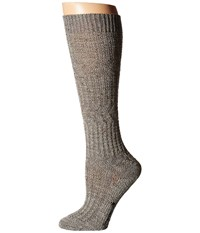 Smartwool Wheat Fields Knee Highs Medium Gray Heather Women's Knee High Socks Shoes