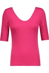 Michael Kors Collection Cashmere Top Magenta