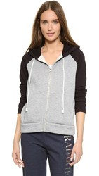 Rodarte Radarte Thick Fleece Hoodie Grey Black