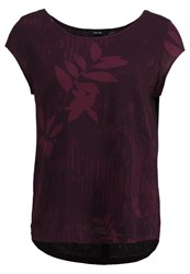 Opus Flinka Botanical Print Tshirt Dried Berry Bordeaux