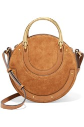 Chloe Pixie Suede And Textured Leather Shoulder Bag Brown