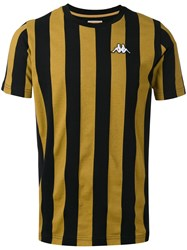 Kappa Striped T Shirt Men Cotton M Black