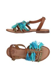 Gioseppo Toe Strap Sandals Turquoise