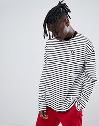 Aape By A Bathing Ape Long Sleeve T Shirt With Stripes Black
