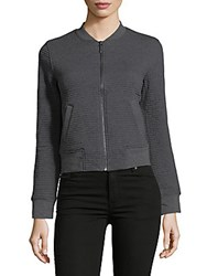 Marc New York Textured Bomber Jacket Charcoal