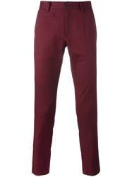 Dolce And Gabbana Chino Trousers Pink Purple