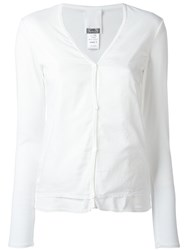 Kristensen Du Nord Cropped Sleeves Cardigan White