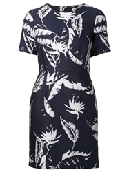Adam By Adam Lippes Adam Lippes Feather Shift Dress Blue