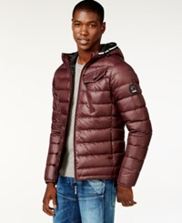 Gstar Quilted Hooded Puffer Jacket A Macy's Exclusive Style Red