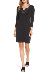 Tommy Bahama Women's Pickford Embellished Sweater Dress Black