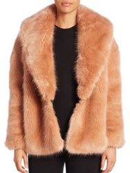 Opening Ceremony Faux Fur Front Cardigan Desert