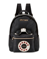 Betsey Johnson Telephone Faux Leather Backpack Black