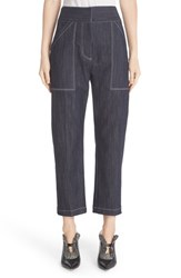 Adam By Adam Lippes Women's Crop Stretch Denim Twill Pants