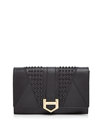 Milly Whitney Stud Clutch Black