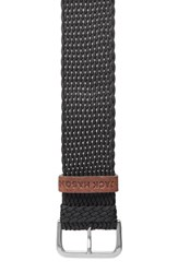 Jack Mason Brand Men's Nylon Strap With Leather Keeper 22Mm