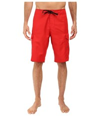Quiksilver Manic 22 Boardshorts Quik Red Men's Swimwear Black