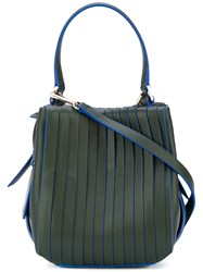 Dkny Panelled Shoulder Bag Women Cotton Leather One Size Green