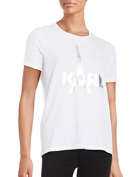 Karl Lagerfeld Eiffel Tower Tee White