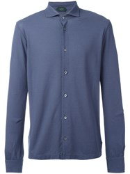 Zanone Knitted Shirt Blue