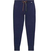 Paul Smith Slim Fit Tapered Cotton Jersey Sweatpants Navy