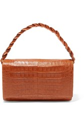 Nancy Gonzalez Carrie Crocodile Shoulder Bag Tan Gbp
