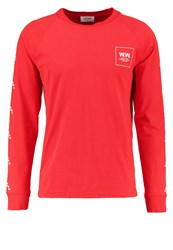 Wood Wood Han Long Sleeved Top Burnt Red
