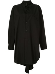 Y's Long Plain Shirt Black