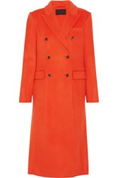 J.Crew Collection Double Breasted Wool Blend Coat Bright Orange