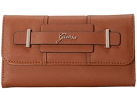 Guess Greyson Slim Clutch Cognac Clutch Handbags Tan