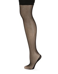 Dkny Fishnet Thigh High Stockings Black