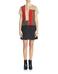 1.State Colorblock Shift Dress Multi Colored