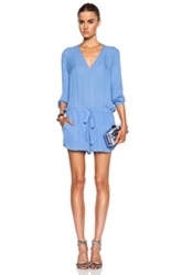 Mason By Michelle Mason Silk Romper In Blue