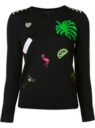 Marc Jacobs Embellished Crew Neck Jumper Black