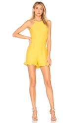 Endless Rose Ruffle Romper Yellow
