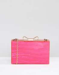 Liquorish Pink Hard Clutch Bag Pink