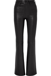Rag And Bone Bella Leather Flared Pants Black