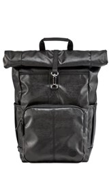 Timberland Men's Walnut Hill Carbon Roll Top Backpack Black Black Carbon