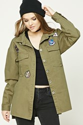 Forever 21 Army Patch Jacket Olive