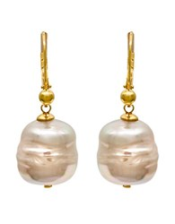 Majorica Baroque Manmade Organic Pearl Drop Earrings Pink