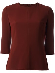 Aspesi Back Keyhole Detail Top Red