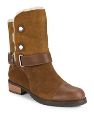 Matt Bernson Tundra Shearling Lined Ankle Boots Brown