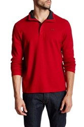 Calvin Klein Long Sleeve Mock Neck Pullover Red