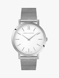 Larsson And Jennings Unisex Lugano Bracelet Strap Watch Silver White Ljxii133001