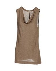 Gigue Sleeveless Sweaters Light Green