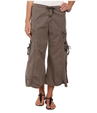 Xcvi Cargo Gaucho Crop Mink Women's Capri Brown